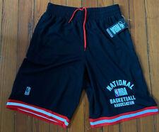 NBA National Basketball Association Men's Black Shorts Size Medium New With Tags