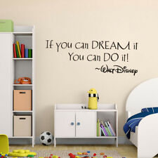 If you can Dream it Quotes Wall Sticker Home Art Decor Decal Mural Wall Stickers