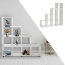 Treppenregal Bücherregal Raumteiler Stufenregal Standregal Regal Holz DE