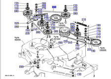 Genuine Kubota K5410-71420 RH Deck Belt To Fit RCK48-G18 / RCK48-GREC