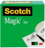 Scotch Magic Tape, 1 Refill Roll, 1 x 2592 Inches, 3 Inch Core, Boxed (810)