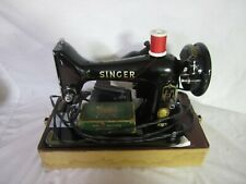 Singer 99k heavy duty sewing machine with case & attachments