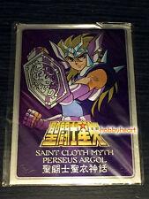 Bandai Saint Seiya Cloth Myth Perseus Argol Metal Plate New Version Stand