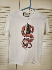 Gucci white snake short sleeve cotton t-shirt small