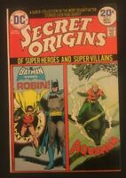 SECRET ORIGINS NO. 7. 1974 BRONZE AGED DC CENTS. BATMAN AND ROBIN . AQUAMAN.