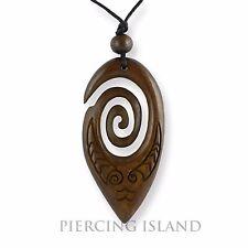Maori Koru Amulett Anhänger Bone Knochen Handarbeit Design PB365
