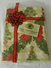 """NEW Sultan's Christmas Tablecloth Vinyl With Flannel Back 52x70"""""""