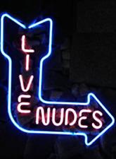 "New Live Nudes Bar Pub Neon Sign 17""x14"""