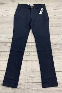 Old Navy Skinny Built In Flex Navy Blue Uniform Pants Size 10 NWT