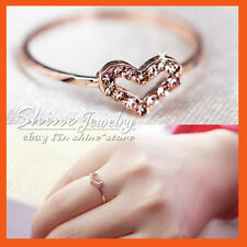 Rose Gold Love & Hearts Fashion Rings
