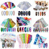 10Pcs/Set Holographic Nail Foils Flower Marble Nail Art Transfer Stickers Decals