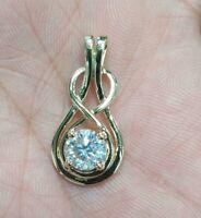 White Details about  /Genuine Garnet Briolette Solitare Pendant Necklace 14K Yellow Rose Gold