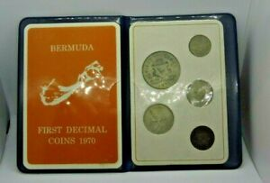 Bermuda Uncirculated Set 1970 - In Presentation Case