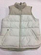 Girls' Small Abercrombie Polyester Ivory Puffer Vest with Goose Down Insulation
