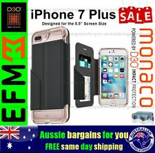 iPhone 7 Plus 8 Plus EFM Monaco Wallet D3O Card Cash Cover Rose Gold Tough Slim