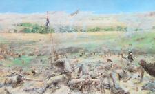 Stampa incorniciata – qui cadde Custer da Eric Von Schmidt (PICTURE REPLICA opera d'arte)