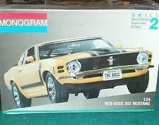 MONOGRAM 1970 FORD MUSTANG BOSS 302 1/25 PLASTIC MODEL KIT STILL SEALED SKILL 2