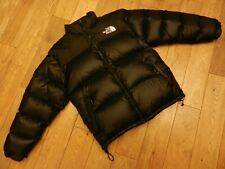 THE NORTH FACE VINTAGE NUPTSE 800 GOOSE DOWN FILL PUFFER JACKET BLACK SIZE:LARGE