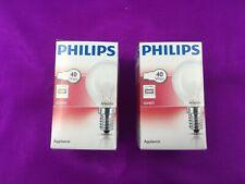 2 X 40W 240v Genuine Philips Cooker Oven Bulbs Lamps SES E14 300 Degrees