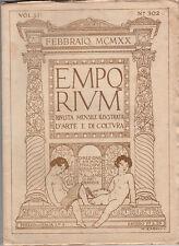 EMPORIUM RIVISTA MENSILE ILLUSTRATA D'ARTE E COLTURA N. 302 febbraio 1920 XILOGR