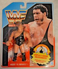WWF ANDRE THE GIANT MB HASBRO SPANISH CARD RARE