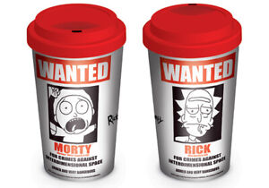 RICK AND MORTY (WANTED) TRAVEL MUG *OFFICIAL PRODUCT*