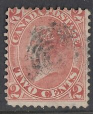 CANADA : 1864 2c rose-red   SG 44 used