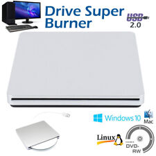 External USB CD DVD RW Disc Drive Writer Burner Comb Hard Slot Windows Latop UK