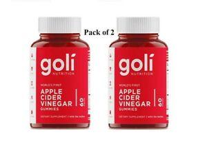 Goli Apple Cider Vinegar Gummies x 2 - 120 Gummies ACV GUMMY 2 Months Supply