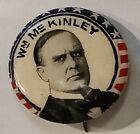 1896 WILLIAM MCKINLEY 7/8'  Whitehead+Hoag  campaign pinback button political