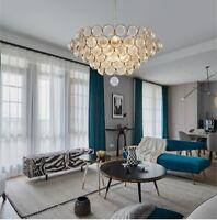 Glass Ball Chandelier Metal Ceiling Fixtures Living Room Pendant Lamp Light New