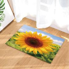 One Large Sunflower Shower Room Mat Bathroom Cover Bath Non Slip Floor Rugs