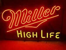 "New Miller High Life Neon Light Sign 24""x20"" Lamp Poster Real Glass Beer Bar"