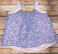 Abercrombie & Fitch Womens Size XS Floral Cami Top With Lace Back