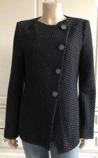 ARMANI COLLEZIONI black & grey smart tailored jacket - UK10-12
