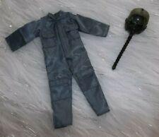 "Real Heros Gray Police Suit & Aviator Helmet Barbie Size 11"""