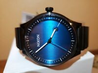 Nixon Station SS Watch All Black Blue Face A1160-602-00