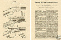 US PATENT of WINCHESTER 1873 REPEATING RIFLE Art Print READY TO FRAME!! browning