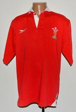 RUGBY UNION WALES 1998/2000 SHIRT JERSEY REEBOK SIZE M ADULT RED