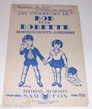 Partition : Les Chansons de Bob et de Bobette - Soldats de bois soldats de plomb