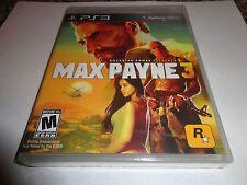 Max Payne 3  (Sony Playstation 3, 2012) new ps3