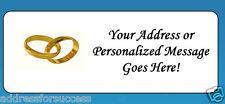 60 Personalized Wedding Rings Return Address Labels