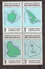MICRONESIA # 1-4  MNH POSTAL SERVICE INAUGURATION ISLANDS