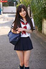 Japanese Japan School Girl Short sleeve-Uniform Cosplay Costume Custom