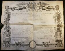KING CHARLES X DECORATION ACT SIGNED BY KING ON BOTH SIDES ON DECEMBER 27, 1814