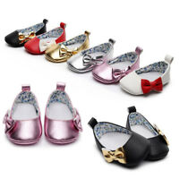 Newborn Toddler Baby Girl Shallow Bowknot Slippers Soft Sole Single Shoes Best P