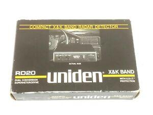 NOS BRAND NEW Uniden RD20 radar detector COMPLETE in Original Box