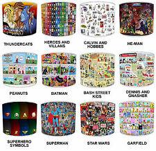 Pantallas de Lámpara para Combinar Infantil Old Cómic Superhéroes