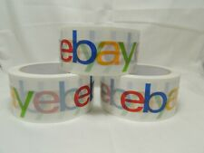 "3 Rolls EBay Branded 2"" Tape 75' Yard BOPP Packaging Packing Shipping Supplies"