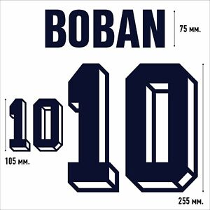 Boban 10. Croatia 1998 - 2000 FLOCK NAMESET NAME SET PRINT
